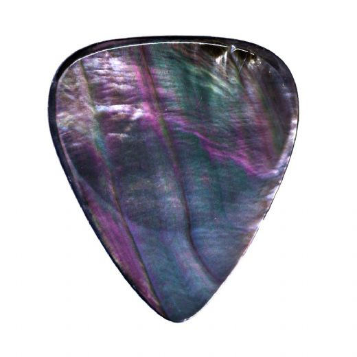 Shell Tones Black Mother of Pearl 1 Guitar Pick